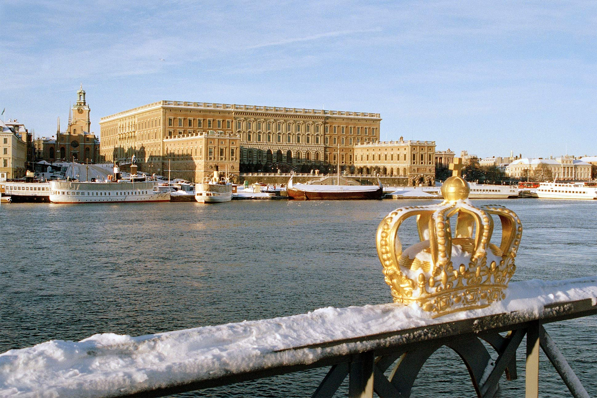 The Royal Palace sits proudly in Stockholm's old town, Stockholm, Sweden
