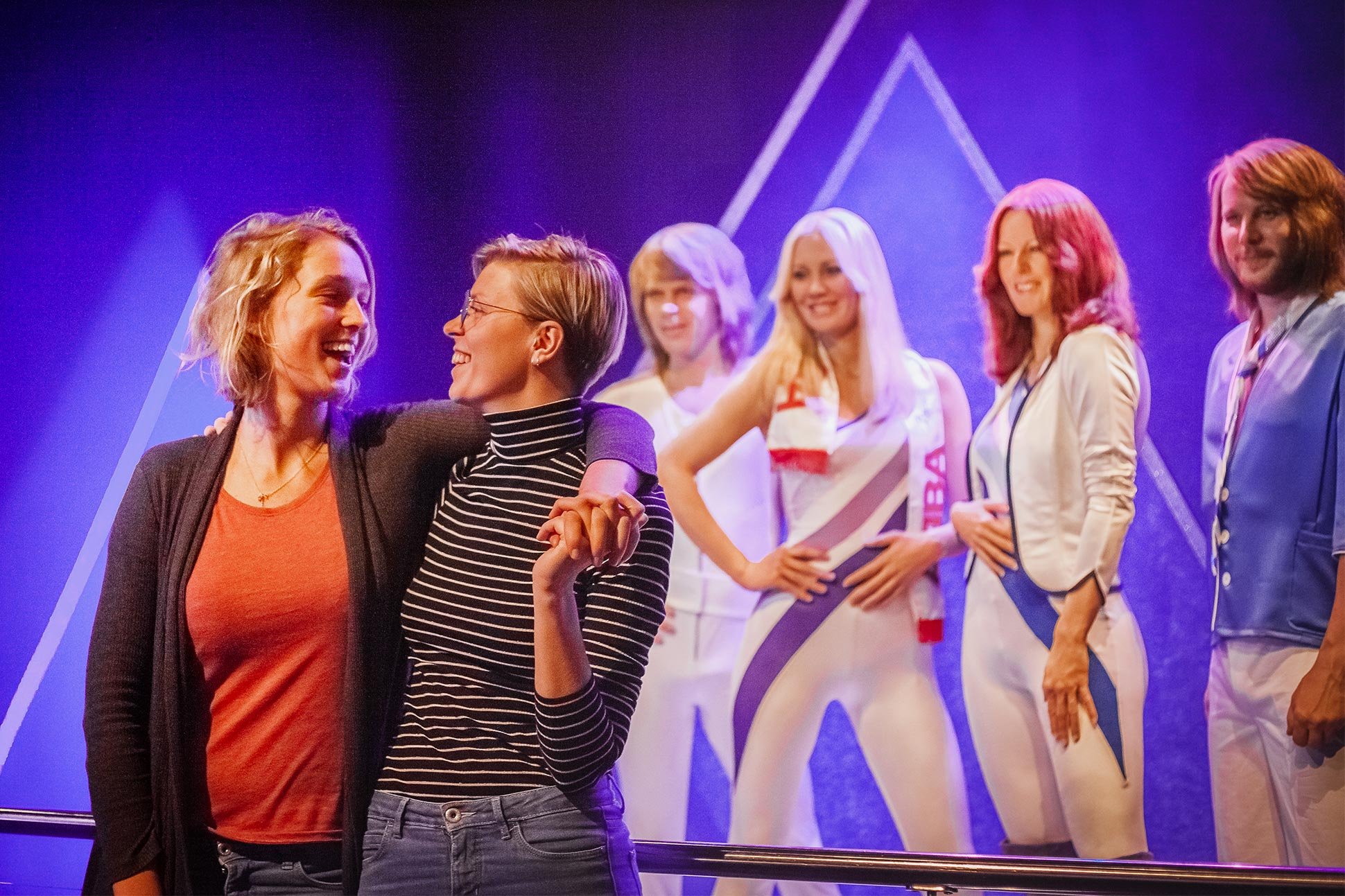 Instagrammers @onceuponajrny at ABBA The Museum, Stockholm, Sweden