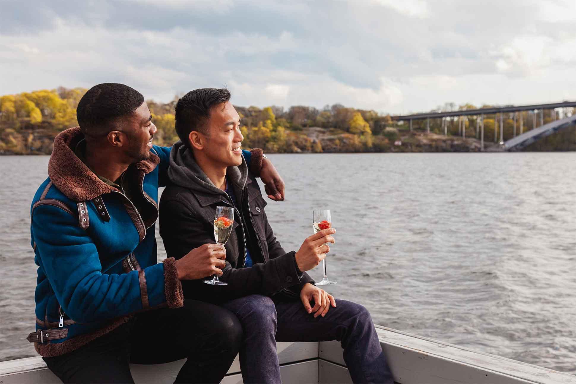 Gay couple in Stockholm, Sweden