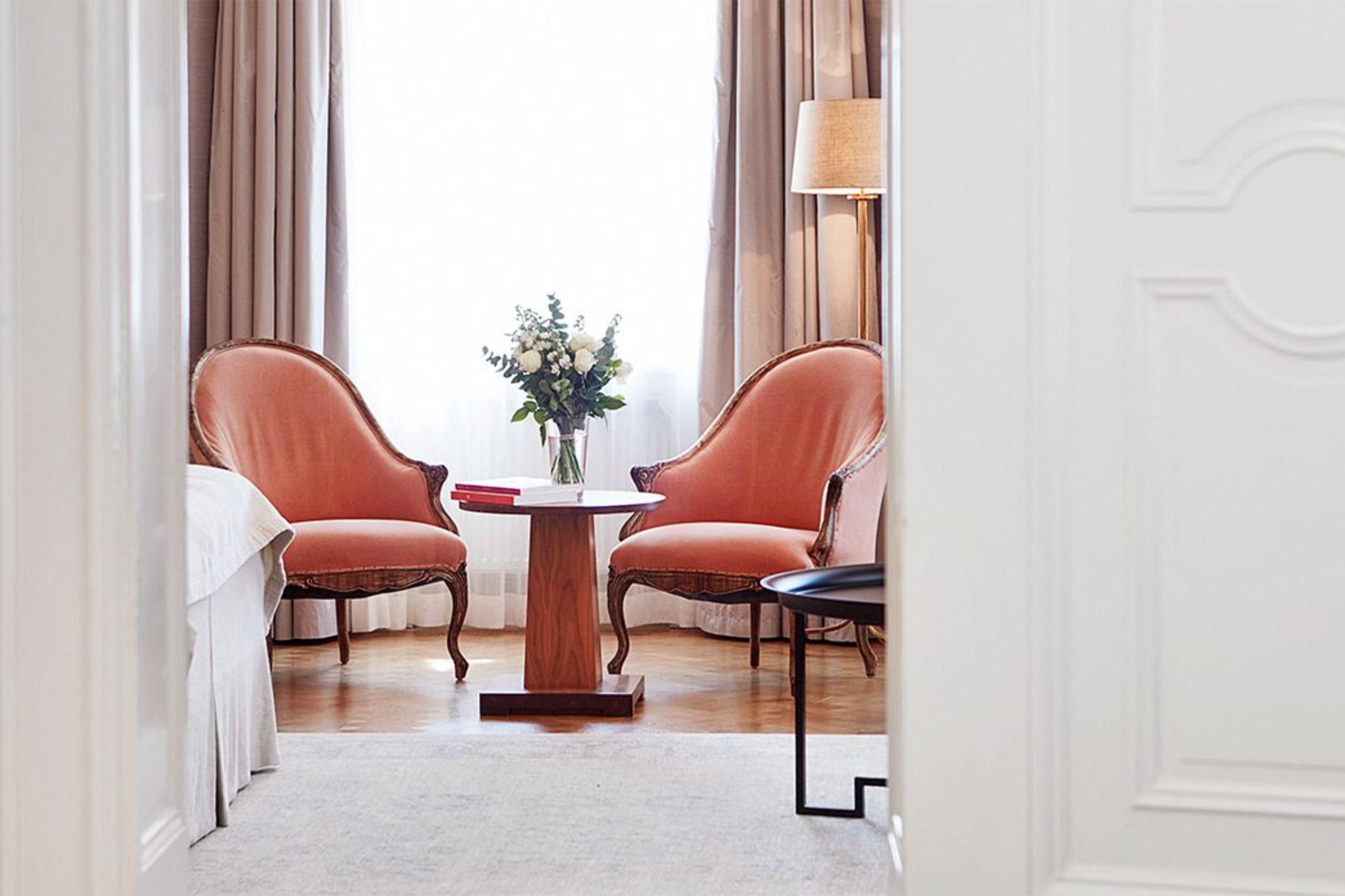 Interior detail at Hotel Diplomat Stockholm, Sweden